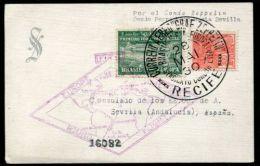 BRAZIL RECIFE ZEPPELIN CONDOR PERNAMBUCO SEVILLE SPAIN 1930 - Covers & Documents
