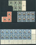PANAMA SPECIMEN BLOCKS 1909 BALBOA DISCOVERER OF PACIFIC AMERICAN BANKNOTE - Panama