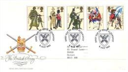 (222) UK FDC Cover - Milirary Uniforms 1983 - FDC