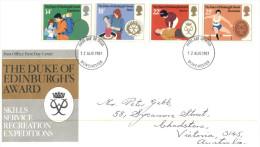 (222) UK FDC Cover - Duke Of Edinburgh's Award 1981 - FDC
