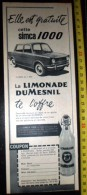 PUB PUBLICITE BOISSON SODA LIMONADE DUMESNIL IVRY - Vieux Papiers