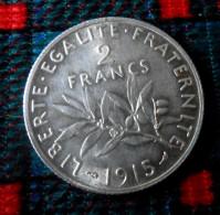 Argent    2 fr 1915  piece FDC