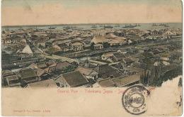 Yokohama General View Edit Stengel Dresde 12498 Stamp Removed Colored - Yokohama