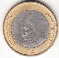 MARRUECOS  1995 10 DIRHAM. HASSAN II  BIMETALICA EBC.  CN4252 - Marruecos