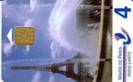 # Carte De Stationnement Pariscarte 0342 - Tour Eiffel 4 Or1 Verso 4E - 3615 Adresse Internet Double Tarif, 08 TBE - Parkkarten
