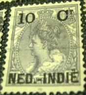 Netherland Indies 1899 Queen Wilhelmina 10c - Used - Niederländisch-Indien