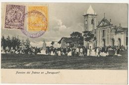 "Funcion Del Patron En "" Paraguari "" Stamped But Not Postally Used - Paraguay"