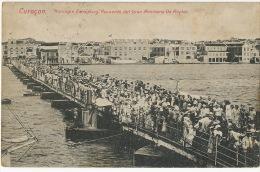 Curaçao  Koningin Emmaburg Recuerdo Del Gran Almirante De Ruyter US Paquebot Cancel 1910 - Curaçao