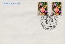 MB 1729)  Lustenau/ÖST 1978: 100 Jahre Kirchenchor St. Peter Und Paul (MiNr 1577 FDC: 25 Jahre Sozialtourismus) - Musik