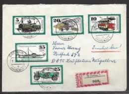 DDR - RECO-Beleg Mi-Nr. 2254 - 2258 Verkehrsmuseum Dresden - [6] Democratic Republic