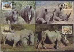 7139. Swaziland, 1987, WWF (World Wide Fund For Nature), Rhinoceros, CM - Swaziland (1968-...)