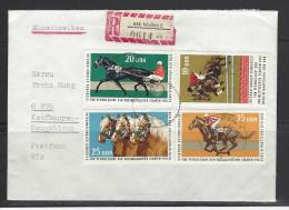 DDR - RECO-Beleg Mi-Nr. 1969 - 1972 Kongreß Pferdezucht - [6] Democratic Republic