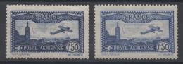 FRANCE - YT PA N° 6-6a - Neufs * - MH - Cote: 96,00 € - 1927-1959 Mint/hinged
