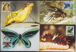 7145. Papua New Guinea, 1988, WWF (World Wide Fund For Nature), Butterflies, CM - Papua-Neuguinea