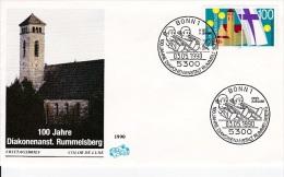 MB 1744) BRD MiNr 1467 FDC: 100 Jahre Diakonenanstalt Rummelsberg, Posaunen Bläser Posaune Trompete - Musik