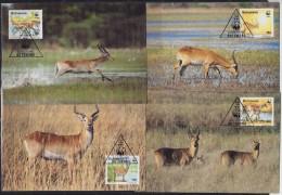 7146. Botswana, 1988, WWF (World Wide Fund For Nature), Red Lechwe, CM - Botswana (1966-...)