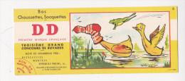 Buvard Bas Chaussettes DD  Canards Grenouille  Illustré Maurice PARENT  N°6  Concours - Textile & Clothing