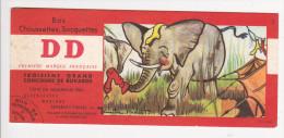 Buvard Bas Chaussettes DD  Elephant Illustré Maurice PARENT  N° 2 Concours - Textile & Clothing