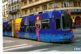 42 ST ETIENNE , Tramway STAS Decore A L'occasion Du 35° Film De Walt Disney Picytures Hercule - Saint Etienne