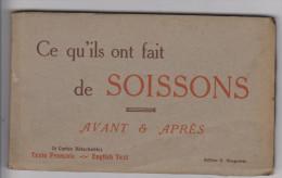 CARNET 24 CPA - 02 - SOISSONS  Avant Et Aprés - Soissons