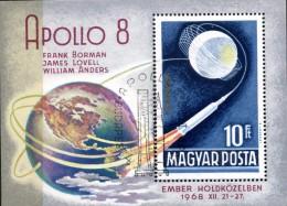 HONRIE THEMATIQUE ESPACE APOLLO 8 - 1968 - OBLITERE- YT BF74 - Space