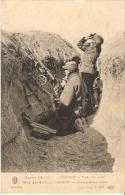 Guerre 1914 - SOUAIN Tirs Sur Aéroplane - Mitrailleuse  Tranchée   Avion - Guerra 1914-18