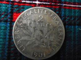 Piece  en  Argent    2 fr 1901