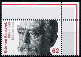 BRD - Michel  3145 Eckrand Rechts Oben - ** Postfrisch (F) - 62C Otto Von Bismarck - Ungebraucht