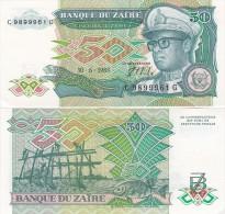Zaire - 50 Zaires 1988 AUNC Lemberg-Zp - Zaire