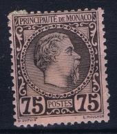 Monaco: 1885 Yv Nr 8 MH/*  Some Paper On Backside - Monaco