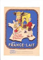 Protège Cahier FRANCE LAIT Bébé Et Vache - Protège-cahiers