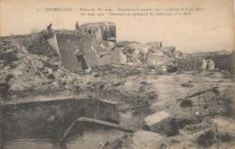 ZEEBRUGGE   / 1914-18 / EFFECT VAN EEN OBUS OP EEN BUNKER - Zeebrugge