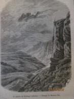1850 Le Glacier De Tschingel Inferieur  Passage Du Mauvais Temps Passage Du Mauvais Pas   Mmmmutthorn  Altels Blumsisalp - Vieux Papiers