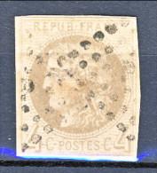 Francia, Em. Bordeaux 1870, Y&T N. 41B C. 4 Grigio Annullo A Rombo - 1870 Bordeaux Printing