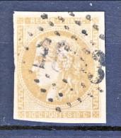 Francia, Em. Bordeaux 1870, Y&T N. 43A C. 10 Bistro Annullo Grosse Cifre 1653 - 1870 Bordeaux Printing