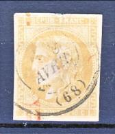 Francia, Em. Bordeaux 1870, Y&T N. 43A C. 10 Bistro Annullo A Data - 1870 Bordeaux Printing