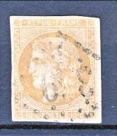 Francia, Em. Bordeaux 1870, Y&T N. 43A C. 10 Bistro Annullo Grosse Cifre 369 - 1870 Bordeaux Printing