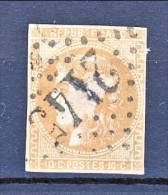 Francia, Em. Bordeaux 1870, Y&T N. 43A C. 10 Bistro Annullo Grosse Cifre 2145 - 1870 Bordeaux Printing
