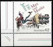 BRD - Michel  3146 Eckrand Links Unten - ** Postfrisch (K) - 62C 150 Jahre Max Und Moritz - BRD