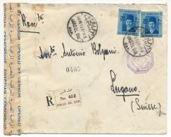 """EGYPTE - Enveloppe Depuis IMAD EL DIN Pour Suisse - 1940 - Censure """"Postal Censor 47"""" - Ägypten"""