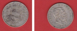 ITALIE  --  5  LIRES 1876 R  --- ETAT  TTB - 1861-1946: Königreich