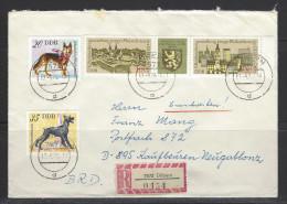 DDR - RECO-Beleg Mi-Nr. 2153 + 2154 Dreierstreifen Briefmarkenausstellung Gera - [6] Democratic Republic