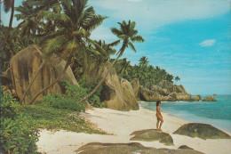 Seychellen - La Digue - Beach - Nice Stamp - Seychellen