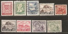 9 Timbres D'Islande - Islande