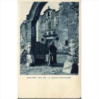 COSTP0624CPA-LFTM179TARO.Tarjeta Postal COSTUMBRISTA.MALLORCA.Mujer Entrando A Casa - Edificios & Arquitectura