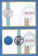 France - Cathédrale De Reims - Bloc En 2 Parties édité Par Phil@poste - Sans Valeur D'affranchissement. - Documents De La Poste