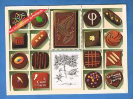 France - Bloc Chocolat - Edité Par Phil@poste - Sans Valeur D'affranchissement. - Documents De La Poste