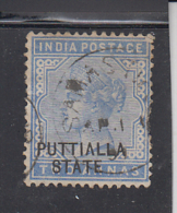 PATIALA STATE  1882-90  QV  2A  O/p ....IN...BLACK COLOUR...UNISSUED  Used Stamp # 84344  Inde  Indien  India - Patiala