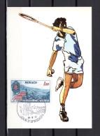 """1977 : Carte Maximum N° YT 1121 """" 100 ANS DU TOURNOI DE WIMBLEDON """". CM - Tennis"""