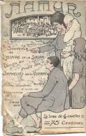 4 CP NAMUR. SOUVENIR DE L'OEUVRE DE LA SOUPE - Illustrateur Victor Thise à Huy !) - ( 6 Scans ! ) - Namur